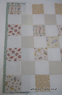 Binding underneath quilt top