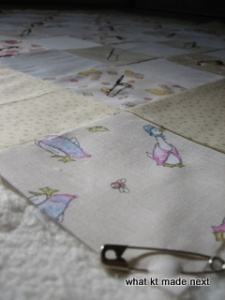 Baby quilt 2 - basted