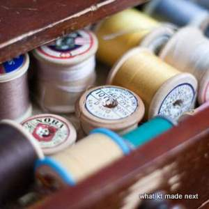 Sewing box thread
