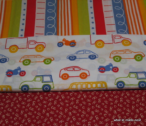 Fabric for Cars and Ponies quilt