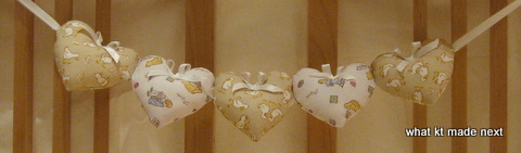 Completed heart cot decoration 1