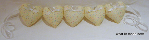 Completed heart cot decoration 2